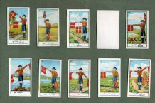 Cgarette cards set Boy Scouts Signalling series semaphore descriptions in Thai